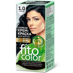 Fito косметик Крем-краска стойкая для волос цвет чёрный, 125 мл 5