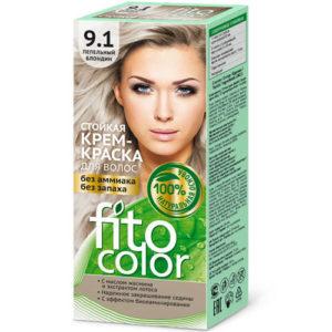 Fito косметик Крем-краска стойкая для волос цвет пепельный блондин, 125 мл 2