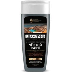 Российский институт красоты и здоровья Шампунь натуральный на камчатской вулканической чёрной глине для всех типов волос, 270 мл 60