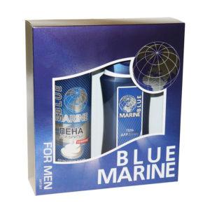 Набор 073 подарочный косметический для мужчин Blue Marine (гель для душа 250 мл + пена для бритья 200 мл) 8