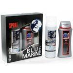 Festiva подарочный косметический для мужчин Blue Marine Sport (гель для душа 250 мл + пена для бритья 200 мл) 1