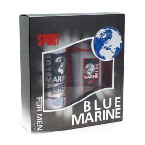 Festiva подарочный косметический для мужчин Blue Marine Sport (шампунь 250 мл + пена для бритья 200 мл) 11