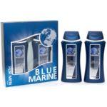 Festiva подарочный косметический для мужчин Blue Marine (шампунь 250 мл + гель для душа 250 мл) 2