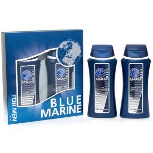 Festiva подарочный косметический для мужчин Blue Marine (шампунь 250 мл + гель для душа 250 мл) 1