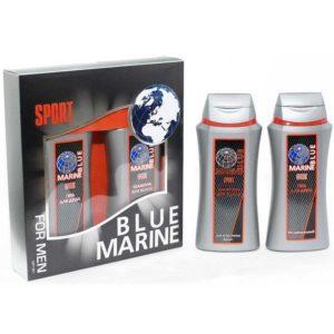 Festiva подарочный косметический для мужчин Blue Marine Sport (шампунь 250 мл + гель для душа 250 мл) 3
