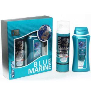 Festiva подарочный косметический для мужчин Blue Marine Cool (гель для душа 250 мл + пена для бритья 200 мл) 2