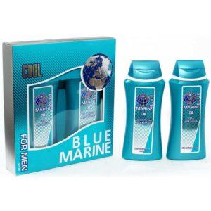 Festiva подарочный косметический для мужчин Blue Marine Cool (шампунь 250 мл + гель для душа 250 мл) 9