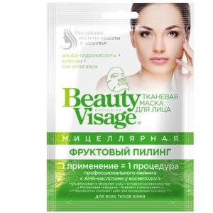 BeautyVisage Маска тканевая мицелярная фруктовый пилинг, 25 мл 15
