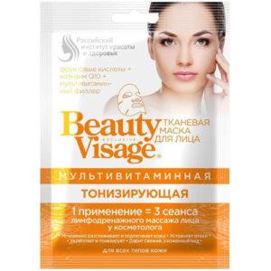 BeautyVisage Маска тканевая мультивитаминная тонизирующая, 25 мл 12