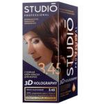 Studio Professional Крем-краска стойкая для волос 3D Holography тон 3.45 тёмно-каштановый, 40/60/15 мл 1