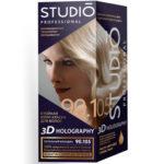 Studio Professional Крем-краска стойкая для волос 3D Holography тон 90.105 пепельный блондин, 40/60/15 мл 2