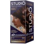 Studio Professional Крем-краска стойкая для волос 3D Holography тон 4.4 мокко, 40/60/15 мл 1