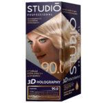 Studio Professional Крем-краска стойкая для волос 3D Holography тон 90.0 саванна, 40/60/15 мл 2