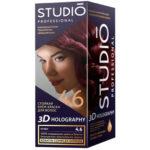 Studio Professional Крем-краска стойкая для волос 3D Holography тон 4.6 бордо, 40/60/15 мл 2