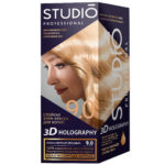 Studio Professional Крем-краска стойкая для волос 3D Holography тон 9.0 очень светлый блондин, 40/60/15 мл 2