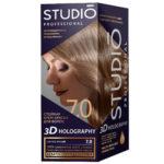 Studio Professional Крем-краска стойкая для волос 3D Holography тон 7.0 светло-русый, 40/60/15 мл 2