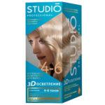 Studio Professional Осветлитель интенсивный для волос 3D осветление на 4-6 тонов, 50/100/25 мл 1