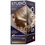 Studio Professional Крем-краска стойкая для волос 3D Holography тон 12.01 скандинавский блонд, 40/60/15мл 2
