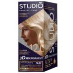 Studio Professional Крем-краска стойкая для волос 3D Holography тон 12.07 изысканный блонд, 40/60/15 мл 1