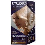 Studio Professional Крем-краска стойкая для волос 3D Holography тон 12.08 легендарный блонд, 40/60/15 мл 1