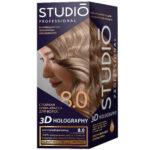 Studio Professional Крем-краска стойкая для волос 3D Holography тон 8.0 морозный шоколад, 40/60/15 мл 1