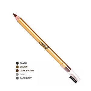 Ffleur Карандаш для бровей с расчёской Eyebrow Pencil, ES-7616, тон 02 коричневый, дерево 1.2 г 4