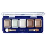 Ffleur Тени для век компактные 5-цв Eyeshadow, E155 mix E Light Brown, тон 139, 13.5 г 1