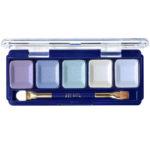 Ffleur Тени для век компактные 5-цв Eyeshadow, E155 mix F Blue Light, тон 128, 13.5 г 1