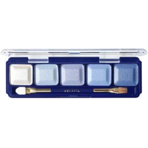Ffleur Тени для век компактные 5-цв Eyeshadow, E155 mix F Blue Light, тон 101, 13.5 г 78