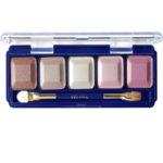 Ffleur Тени для век компактные 5-цв Eyeshadow, E155 mix G Pink Violet, тон 117, 13.5 г 1