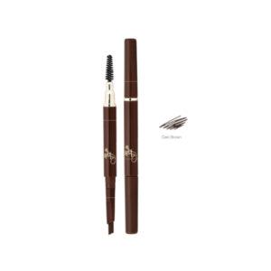 Ffleur Карандаш для бровей (мех + расч) Powder Eyebrow Pencil, ES412, тон 02 тёмно коричневый, 0.5 г 12