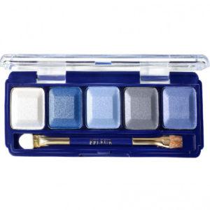 Ffleur Тени для век компактные 5-цв Eyeshadow, E155 mix F Blue Light, тон 203, 13.5 г 81