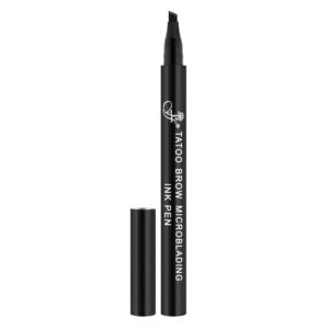 Ffleur Карандаш для микроблейдинга бровей (маркер) Tatoo Microblading Brow Ink Pen, BR143 blk, тон 01 черный 6