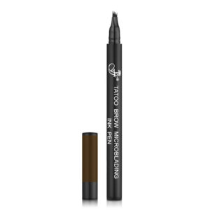 Ffleur Карандаш для микроблейдинга бровей (маркер) Tatoo Microblading Brow Ink Pen, BR143 dark brown, тон 02 тёмно-коричневый 8
