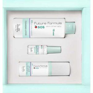 Dzintars Future Formula SOS skin therapy Набор анти-акне (очищающий лосьон, интесивное средство, осветляющий и регенерирующий крем) 11