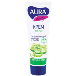 Aura Крем для рук с глицерином и экстрактом алоэ, 75 мл 2