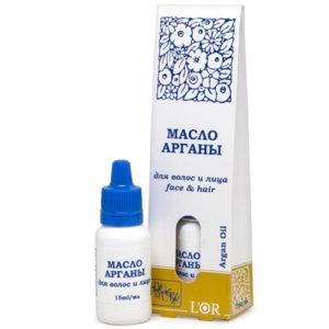 DNC L'or Масло арганы косметическое для ухода за кожей лица, вокруг глаз и губ, рук и ног, за ногтями, кутикулой, за волосами Argan Oil, 15 мл 18