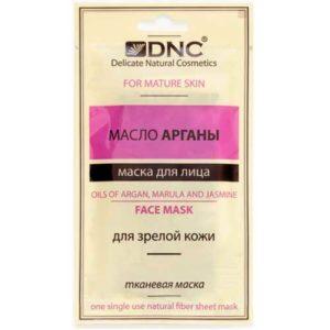 DNC Маска тканевая для зрелой кожи + масла марулы и жасмина Face Mask, 15 мл 3