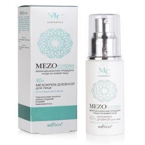 Bielita Mezo complex 40+ Мезокрем для лица дневной Интенсивное омоложение с гиалуроновой кислотой и аминокислотами, 50 мл 64