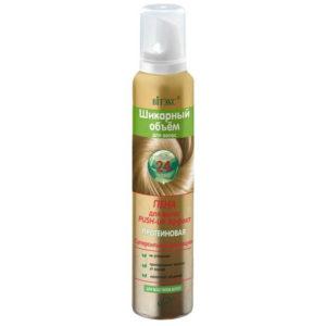 Витэкс Шикарный Объем Пена для волос протеиновая Push-Up эффект, суперсильная фиксация Hair Mousse, 200 мл 6