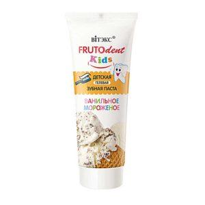 Витэкс Frutodent Kids Зубная паста детская гелевая Ванильное мороженое с 1 года, без фтора 12