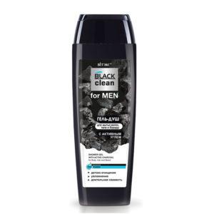 Витэкс Black Clean for Men Гель-душ для мытья волос, тела и бороды с активным углем, 400 мл 1