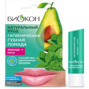 Биокон Гигиеническая губная помада мята+авокадо, 4,6 г 92