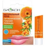 Биокон Помада губная гигиеническая облепиха + календула, 4.6 г 2
