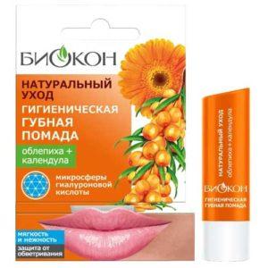 Биокон Помада губная гигиеническая облепиха + календула, 4.6 г 7