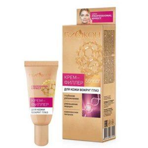 Биокон 55+/65+ Крем-филлер для кожи вокруг глаз (гиалуроновая кислота, растит коллаген, церамиды, кальций, магний), 25 мл 5