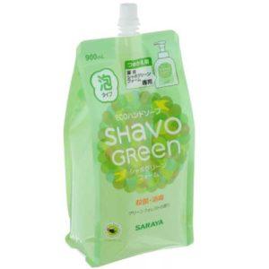 Saraya Shavo Green Мыло жидкое пенящееся для рук натуральное, 900 мл 1