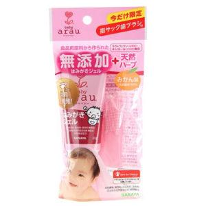 Arau Зубная паста-гель для малышей + напальчник (для детей от 0 до 2 лет и старше), 35 г 3