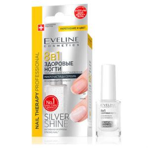 """Eveline Препарат для регенерации ногтей 8 в 1 """"микрочастицы серебра"""", 12 мл 11"""