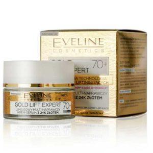 Eveline Gold Lift Expert 70+ Крем-сыворотка эксклюзивный ультравосстанавливающий с 24K золотом, 50 мл 43